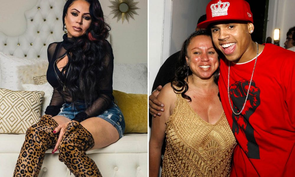 Chris Brown's Mom Joyce Hawkins Wows Fans As She Shows Off Her Age-Defying  Beauty In A Floral Dress - From The Stage